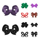 Ornamentals, frippery, finery and other web icon in cartoon,black style.Bow, ribbon, decoration, icons in set collection. Ornamentals, frippery, finery and other Stock Photography