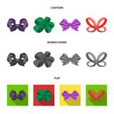 Ornamentals, frippery, finery and other web icon in cartoon,flat,monochrome style.Bow, ribbon, decoration, icons in set. Ornamentals, frippery, finery and other Royalty Free Stock Image