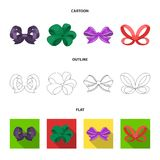 Ornamentals, frippery, finery and other web icon in cartoon,outline,flat style.Bow, ribbon, decoration, icons in set. Ornamentals, frippery, finery and other Royalty Free Stock Photo