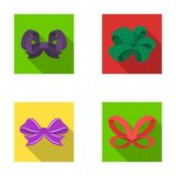Ornamentals, frippery, finery and other web icon in flat style.Bow, ribbon, decoration, icons in set collection. Ornamentals, frippery, finery and other  icon Royalty Free Stock Images