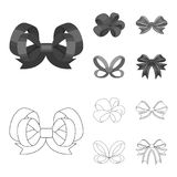 Ornamentals, frippery, finery and other web icon in outline,monochrome style.Bow, ribbon, decoration, icons in set. Ornamentals, frippery, finery and other  icon Stock Photo