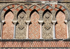 Ornamentation of the mosque in Cordoba. Ornamentation of a door of the mosque in Cordoba (Spain Stock Photo