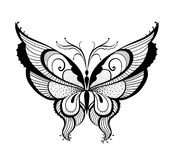 Ornamented abstract butterfly Stock Photos