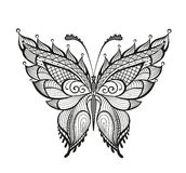 Ornamented abstract butterfly Stock Photography