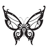 Ornamented abstract silhouette butterfly. Abstract silhouette invented decorative butterfly. It is designed to decorate vector illustration