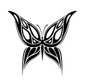 Ornamented abstract silhouette butterfly Stock Image
