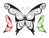 Ornamented abstract silhouette butterfly Royalty Free Stock Photo