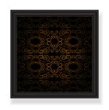 Ornamented background black Stock Photos