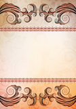 Ornamented banner Stock Photos