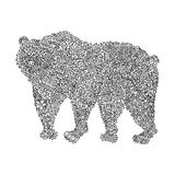 Ornamented bear vector illustration