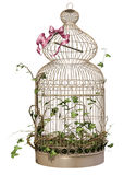 Ornamented bird cage. 3D render of an ornamented bird cage vector illustration