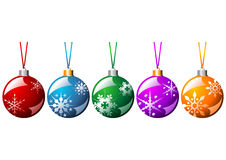 Ornamented Christmas balls Stock Images