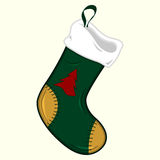 Ornamented Christmas stocking Royalty Free Stock Image
