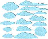 Ornamented clouds Royalty Free Stock Images