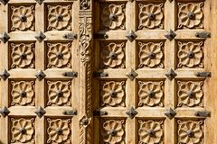 Ornamented door detail Royalty Free Stock Photos