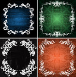 Ornamented frames Royalty Free Stock Images