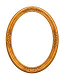 Ornamented gold plated empty picture frame Isolated on white Royalty Free Stock Photography