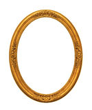 Ornamented gold plated empty picture frame Isolated on white Stock Photography