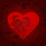 Ornamented heart Royalty Free Stock Photography