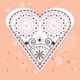 Ornamented heart. Detailed illustration of the heart Stock Photo
