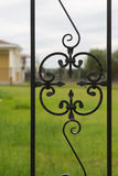 Ornamented iron fence Stock Photo