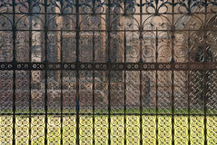 Ornamented railing, Cambrdige University Royalty Free Stock Photography