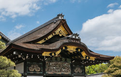 Ornamented roofs of Nijo Castle in Kyoto. Royalty Free Stock Photography