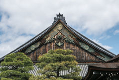 Ornamented roofs of Nijo Castle in Kyoto. Stock Images