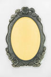 Ornamented, silver plated empty picture frame Stock Images