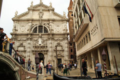 Ornamented Venice building Royalty Free Stock Images