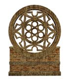 Ornamented wall. 3D render of an ornamented wall fragment Stock Photography