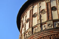 Ornamented wall of a round building Royalty Free Stock Photo