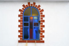 Ornamented window Royalty Free Stock Image