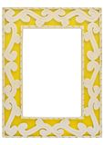 Ornamented Yellow Picture Frame w/ Path Stock Photos