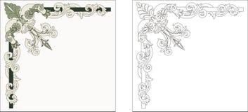 Ornamentelementen Stock Foto
