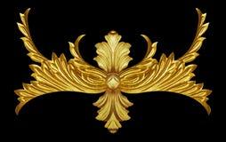 Ornamentelementen, uitstekende gouden bloemen Royalty-vrije Stock Afbeeldingen