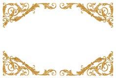 Ornamentelementen, uitstekende gouden bloemenontwerpen Royalty-vrije Stock Fotografie