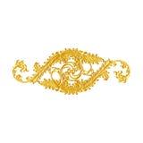 Ornamentelementen, uitstekende gouden bloemenontwerpen Stock Afbeelding