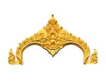 Ornamentelementen, uitstekende gouden bloemenontwerpen Royalty-vrije Stock Afbeelding