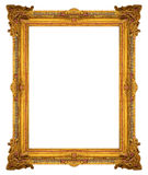Ornamentelementen, uitstekende gouden kader bloemenontwerpen Stock Foto's