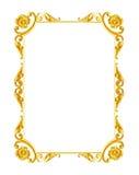 Ornamentelementen, uitstekende gouden kader bloemenontwerpen Stock Fotografie