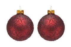 Ornamenten I van de kerstboom Stock Fotografie