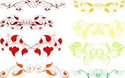 Ornamenten, ontwerpelementen royalty-vrije illustratie