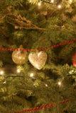 Ornamenten op Kerstboom Royalty-vrije Stock Foto's