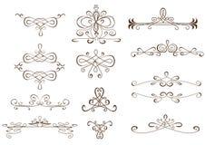 Ornamenten voor tekst royalty-vrije stock fotografie