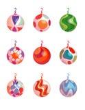 Ornamenti 2 di natale Fotografie Stock
