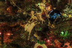 Ornamenti antichi 1 di Natale fotografie stock