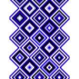 Ornamenti aztechi blu e bianchi neri geometrici Fotografie Stock Libere da Diritti