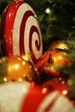 Ornamenti brillanti di Natale Fotografie Stock