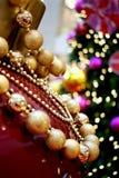 Ornamenti brillanti di natale Fotografia Stock